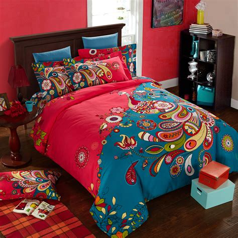 peacock feather comforter online get cheap peacock feather bedding aliexpress com