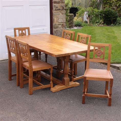 albert eagleman jeffray oak dining table and 6 chairs