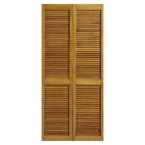 Louvered Bifold Closet Doors by Shop Reliabilt 24 5 In X 6 Ft 8 In Louvered Solid