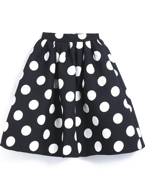 s black polka dot flare skirt at women s
