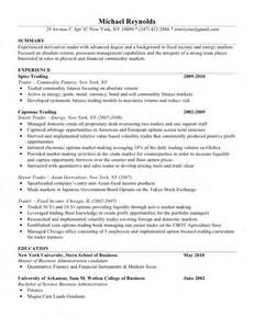 Equity Trader Sle Resume by Mike Resume
