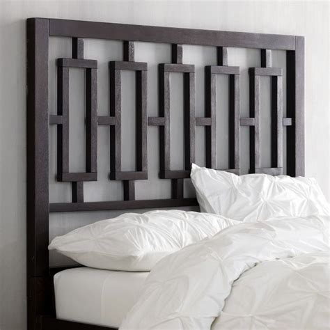 modern wood headboard window headboard chocolate modern headboards by