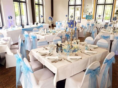Wei E Hochzeitsdeko by Hochzeitsdeko Weiss Blau Execid