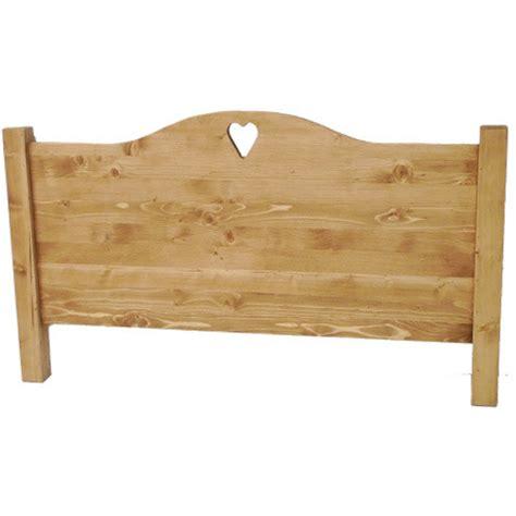 lit en bois de t 234 te de lit bois massif coeur chapeau de gendarme