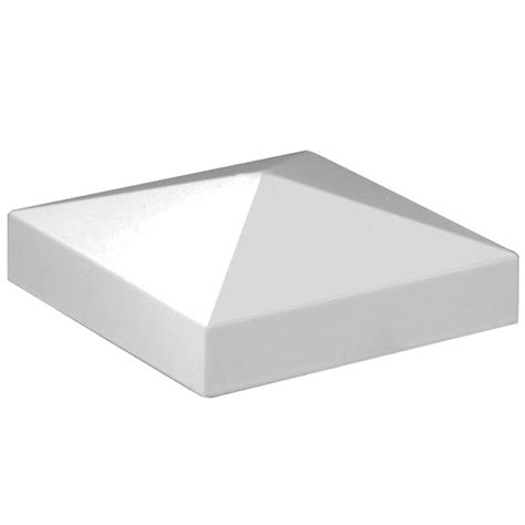 shop freedom white aluminum metal fence post cap at lowes