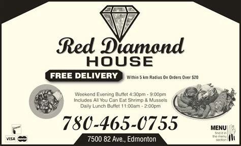 diamond house menu red diamond house restaurant menu hours prices 7500 82 ave nw edmonton ab