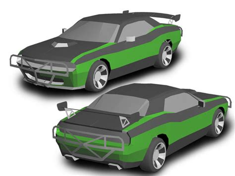 Paper Craft Car - furious 7 dodge challanger paper car free vehicle paper