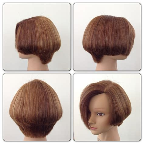 how cut one inch square bob triangular layers square graduation hair cut studio pinterest