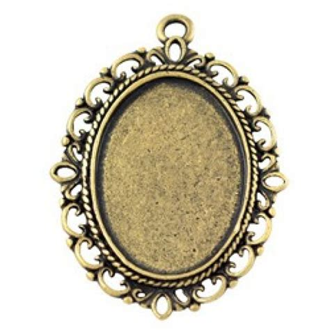 Ant Ovale 39x27mm od ant gold oval filigree bezel pendant