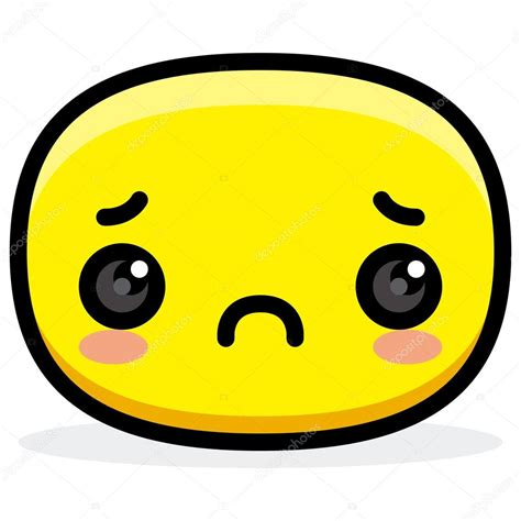 imagenes sad face cara triste de dibujos animados cute aislado vector de