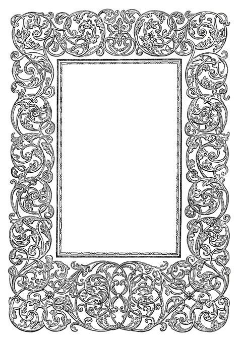 frame design clipart free vintage image ornate swirly frame clip art old