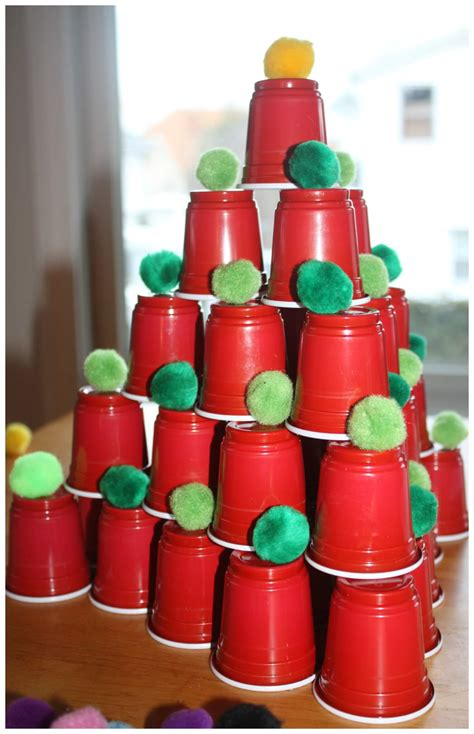 plastic cups christmas tree stem ideas engineering trees