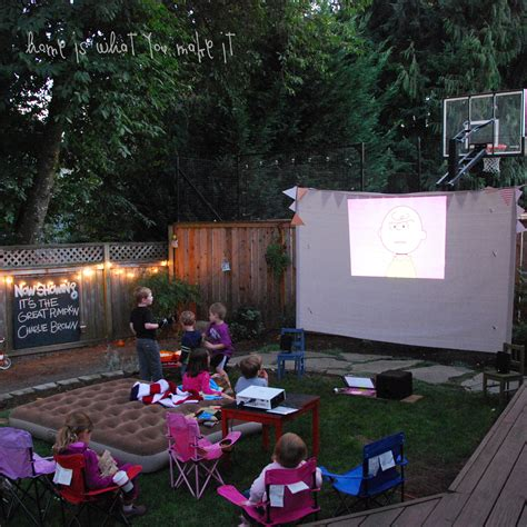 backyard movie night fall backyard movie night home is what you make it