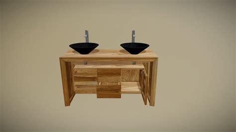 modele salle de bain 943 meuble salle de bain sentani en teck massif avec 2 tiroirs