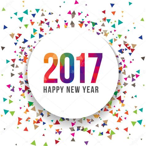 Terbang New Year 2017 happy new year 2017 vector illustration template background design scatter confetti effect