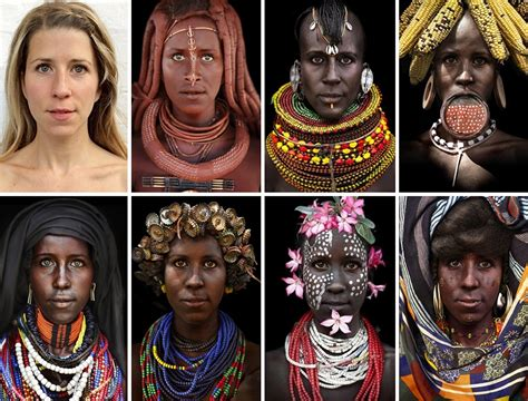 white lady dons blackface for african tribes because