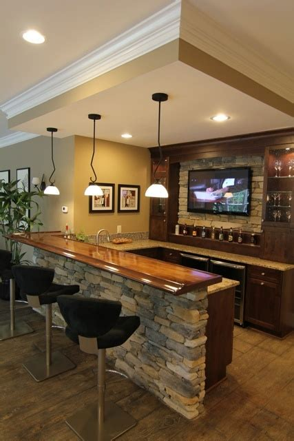 Decorating A Home Bar Basement Bar Interior Veneer And Trim Home Decorating Diy