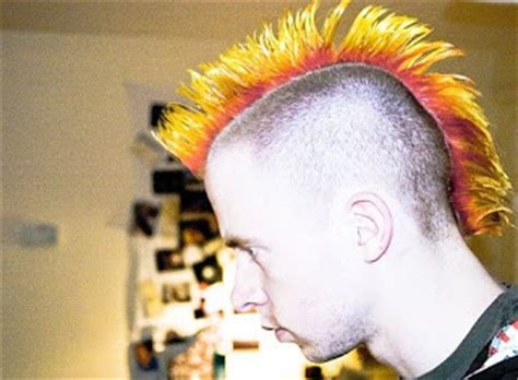 mohawk boys dyed mohawk hairstyles