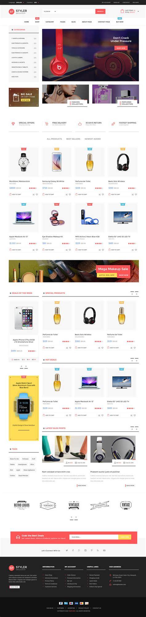 12 Best Responsive Html5 Templates For Designer Html5 Css3 Design Blog Mega Shop Template