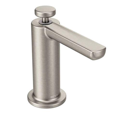 moen kitchen faucet with soap dispenser moen modern soap dispenser in spot resist stainless s3947srs the home depot