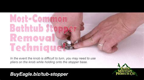 how to remove a bathtub stopper how to remove most common bathtub stoppers replace with watco youtube