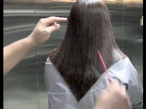 how cut v shaped short haircut how to cut a v shape outline step by step how to cut the