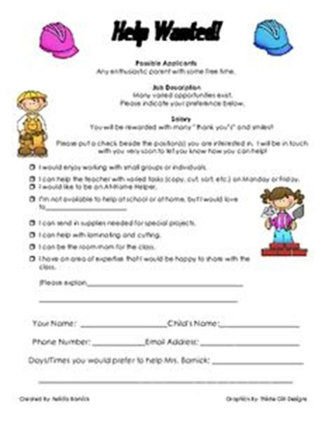 Parent Volunteer Letter For Classroom Parent Volunteer Sheet For Parent School Parent Volunteers Parent
