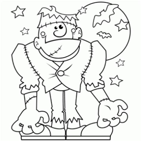 coloring pages of halloween monsters halloween monster free n fun halloween from oriental trading