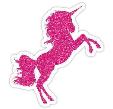 Glitter Unicorn Stickers