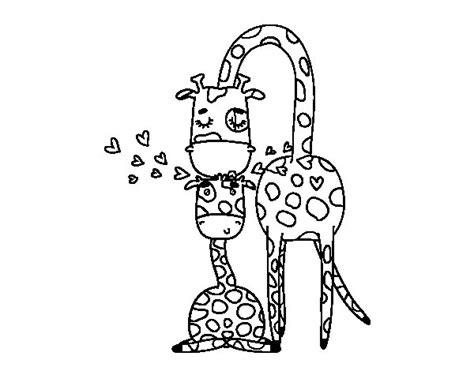 imagenes de jirafas faciles de dibujar dibujo de mam 225 jirafa para colorear dibujos net