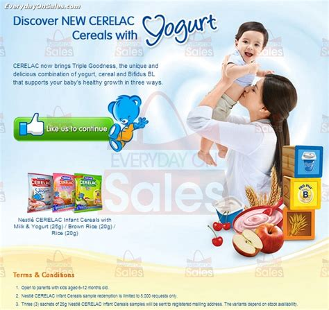 Free Baby Stuff Giveaways - nestle free cerelac baby cereal sles giveaway everydayonsales com