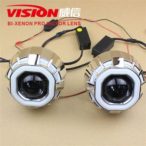 Lu Hid Eagle Eye hotting h7 h11 square hid projector lens led eagle eye projector headlight dual ring projector