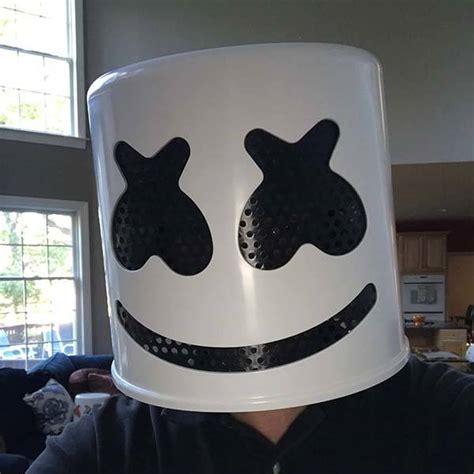 handmade marshmello helmet  upcoming halloween party gadgetsin