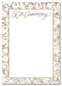 free printable 50th wedding anniversary invitations the wedding specialists