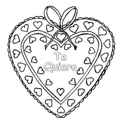 imagenes que digan te quiero para colorear caja de bombones te quiero