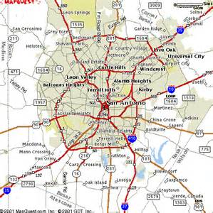map of san antonio and surrounding area san antonio map travel map travelquaz