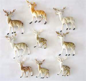 vintage reindeer plastic figurines