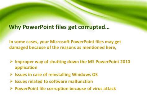 how to repair powerpoint files how to repair microsoft powerpoint 2010 files