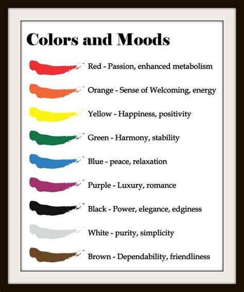 mood color chart crochet tips pinterest mood colors 8 best colors images on pinterest color psychology