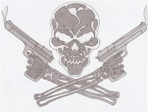 skull and guns by coaster14 on deviantart