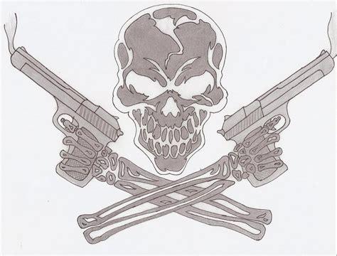 skull and guns by coaster14 on deviantart