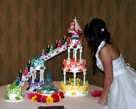 (1471) Multicolor and MultiLayer Quinceanera Cake   ABC Cake Shop & Bakery