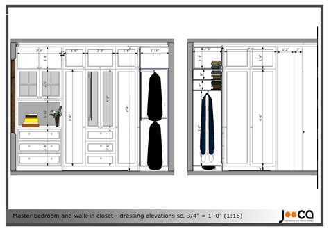 Walk In Closet Standard Size by Arcbazar Viewdesignerproject Projectbedroom Design