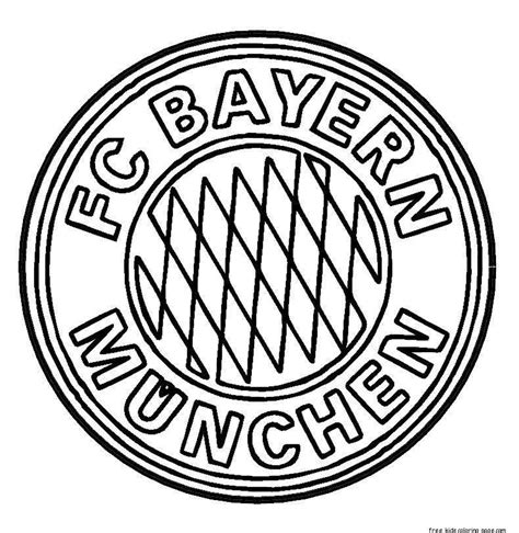 real madrid logo coloring page printable bayern munich logo soccer coloring pages for