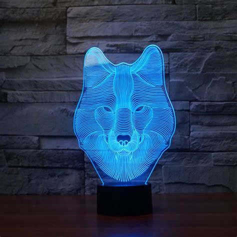 color changing light table aliexpress com buy 3d night light wolf 7 colors changing