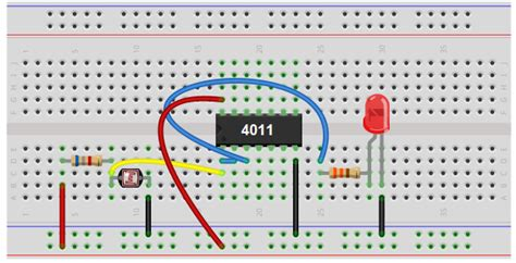 photoresistor breadboard how to build a light detector circuit with a nand gate chip