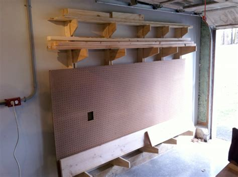 Wall Mounted Lumber Storage Rack by How To Build A Wall Mounted Lumber Storage Rack One