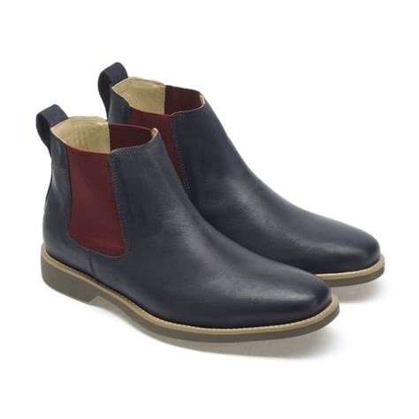 mens vintage chelsea boots anatomic gel mens cardoso vintage navy leather chelsea boots