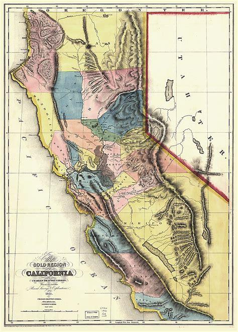 california map history 1851 california regional map california mappery