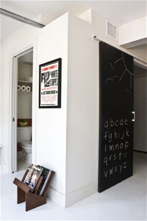 Chalkboard Sliding Closet Doors Awesome Sliding Barn Door With Chalkboard Paint The Home Pinterest Chalk Board Door
